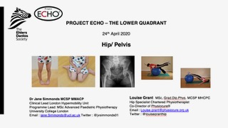 Louise Grant was delighted to be invited by Dr Jane Simmonds to co-present for the Ehlers Danlos Society ECHO program